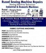 Russel Sewing Machine Repairs