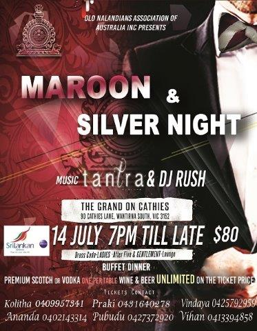 Maroon & Silver Night - 14th July 2018 (Melbourne event)