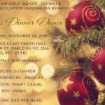 Presbyterian Girls' School Dehiwela-Past Pupils Association (Australian Branch) - Christmas Dinner Dance - November 24th 2018
