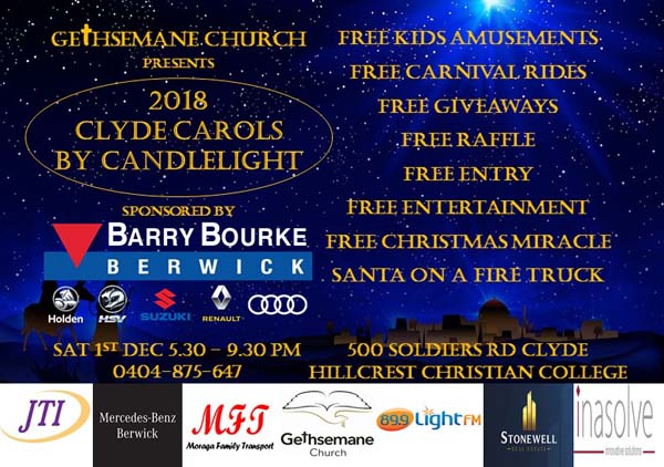 2018 Clyde Carols By Candlelight