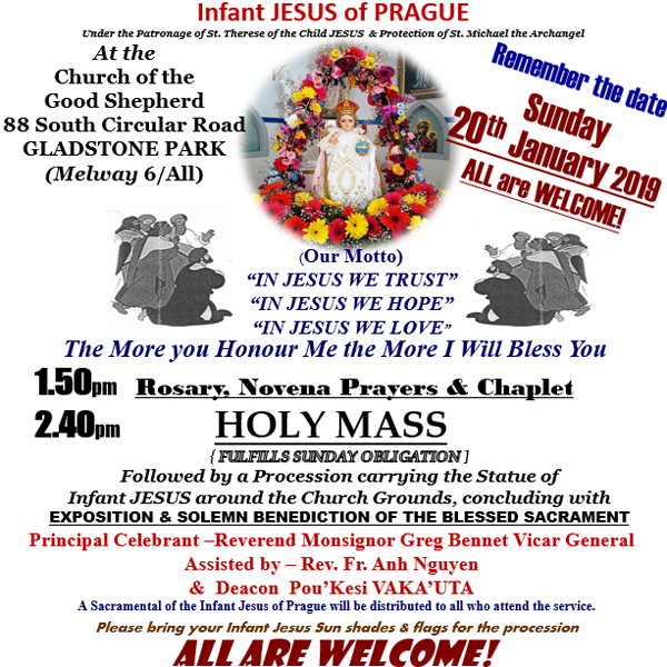 16th annual celebration of the feast of the Infant JESUS of Prague
