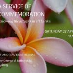 A service of commemoration following the attacks in Sri Lanka