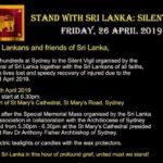 srilanka silent vigil