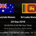 SriLanka vs Australia womens cricket