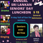 Annual Sri Lankan Seniors' Day Luncheon