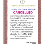 CSA May meeting cancelled