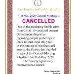 CSA May meeting cancelled