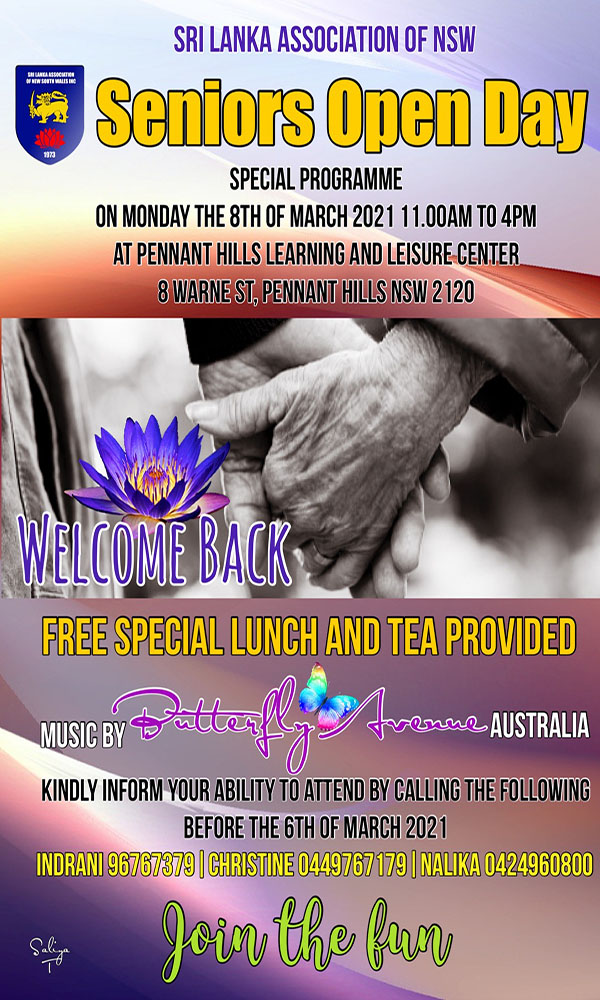Sri Lanka Association of NSW seniors open day