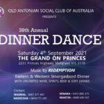 Old Antonian Social Club of Australia present 39th Annual Dinner Dance
