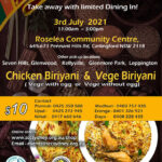 SCC - Sri Lankan Food Take Away on Saturday the 3rd July  -  Place your orders