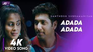 Adada Adada Adada Enai Yetho   4K HD Video Song   Santhosh Subramaniyam   Jeyam Ravi   Jeliniya